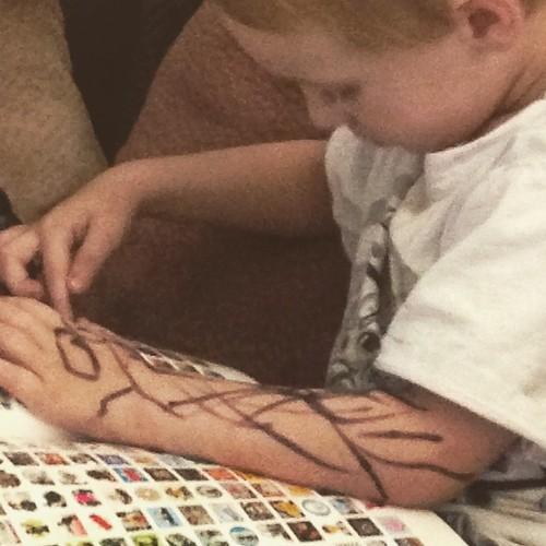 Look a #tattoo #sleeve #shoot #momfail #grandmajustaskedfornotrampstamp #ohman