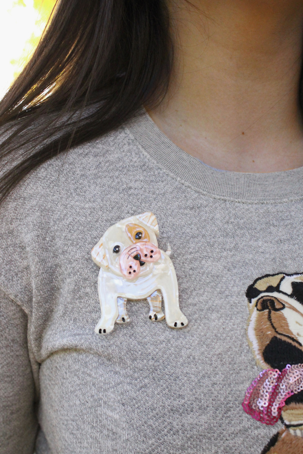 taciturn taco brooch erstwilder bulldog
