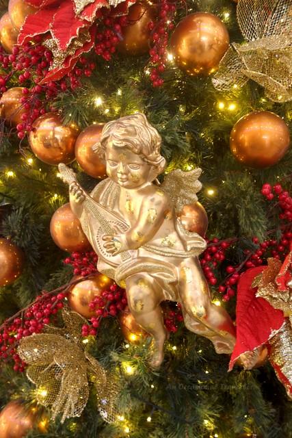 An angel on a Christmas tree