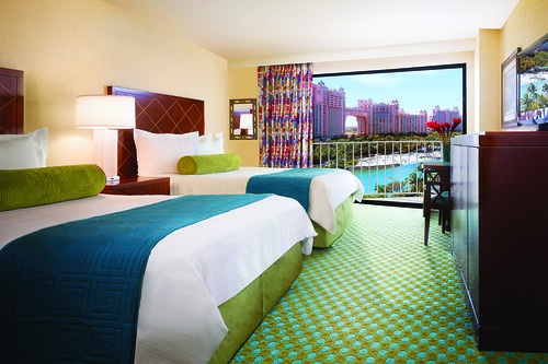 Guest Room in the Atlantis Coral Towers