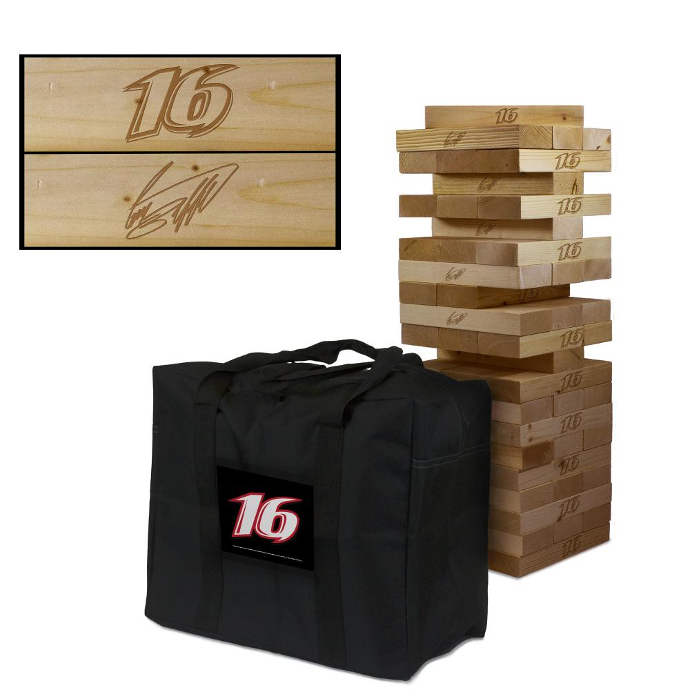 GREG BIFFLE #16 Wooden Stained Tumble Tower Game