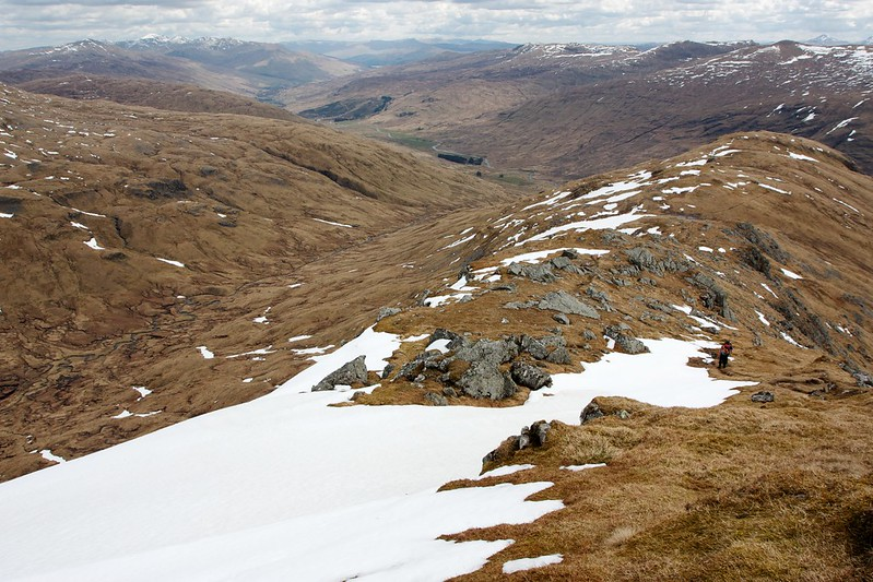 Glen Lochay from the east ridge of Creag Mhor