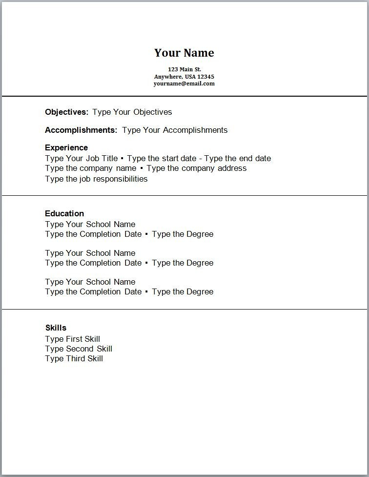 Simple Resume With No Experience Simple Resume With No Exp Flickr