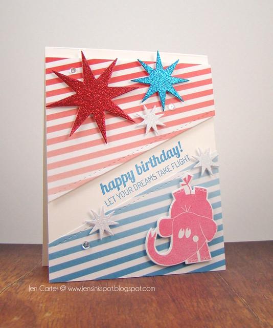 Jen Carter Sparkling Pachyderm Birthday Angle