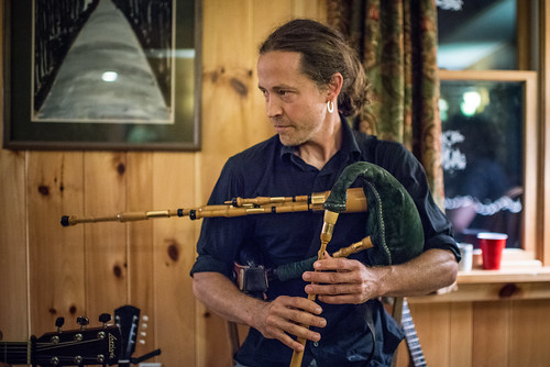 Dan Houghton of Cantrip Scottish Trio Playing Highland Border Pipes | by goingslowly