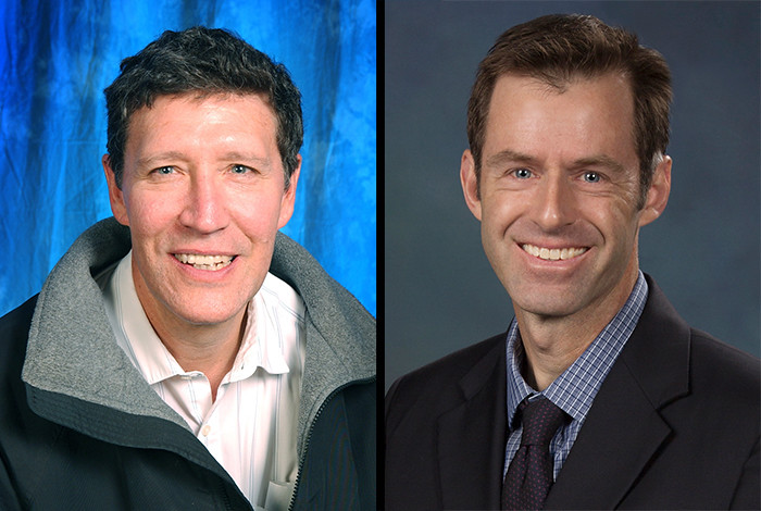 William Louis (left) and Scott Crooker were named 2016 AAAS Fellows.