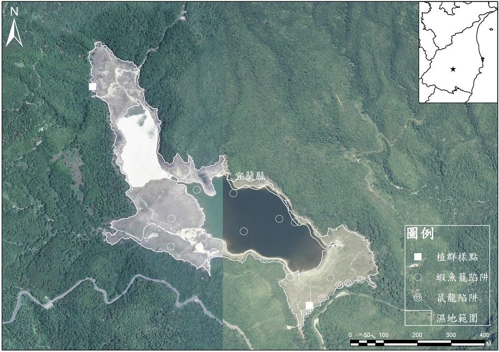 翠峰湖航照圖