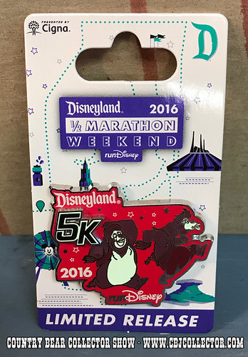 2016 Run Disney Disneyland 5k Limited Release Pin - Country Bear Collector Show #085