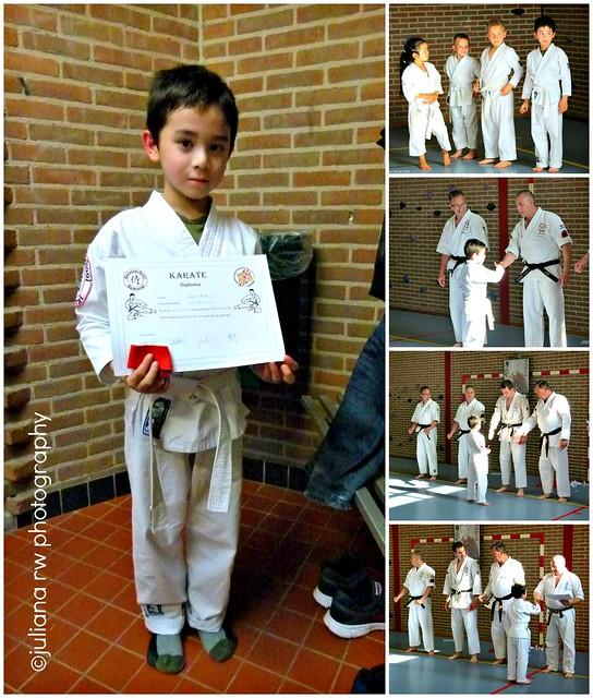 Jason 1st Karate Samurai diploma