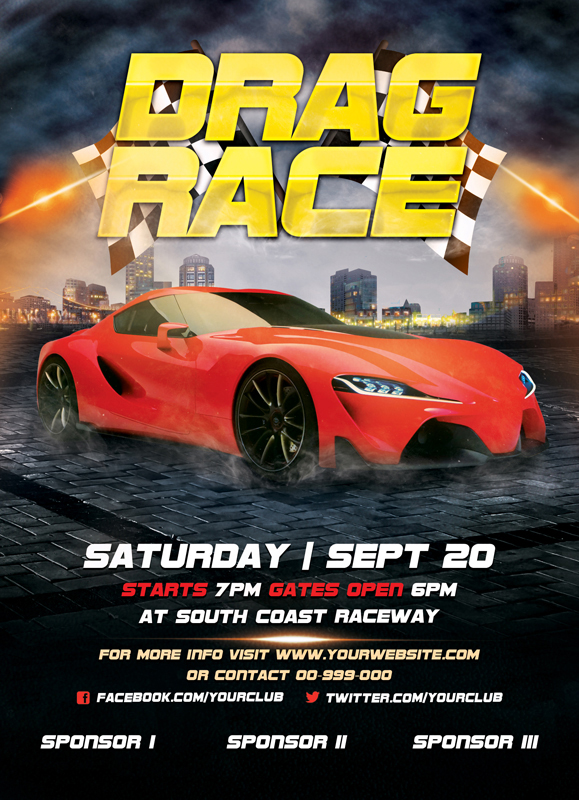 drag race flyer template download the photoshop file here flickr