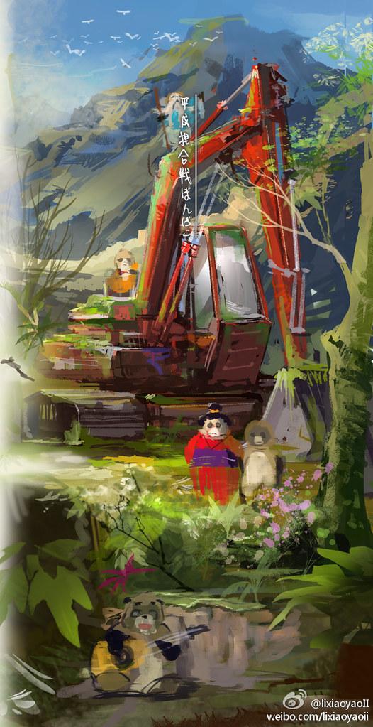 Studio Ghibli by lixiaoyaoii - Pom Poko