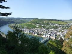 Blick auf Traben-Trabach von der Grevenburg