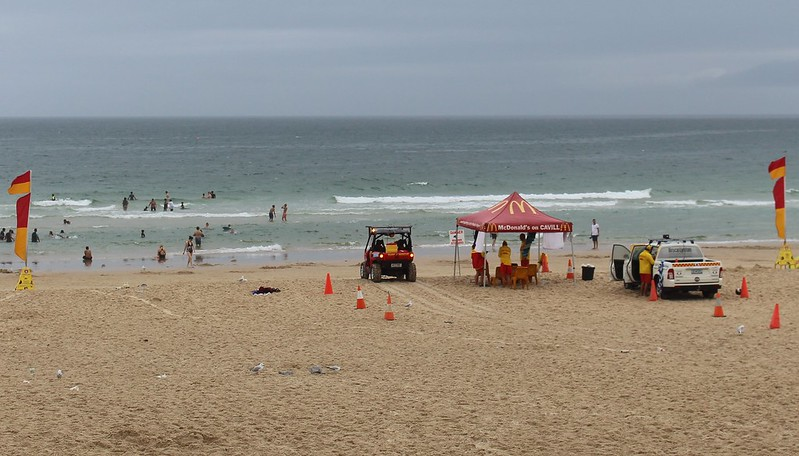 Surfers Paradise Beach on a wet day