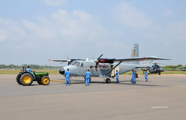 SLAF Y-12 on tow