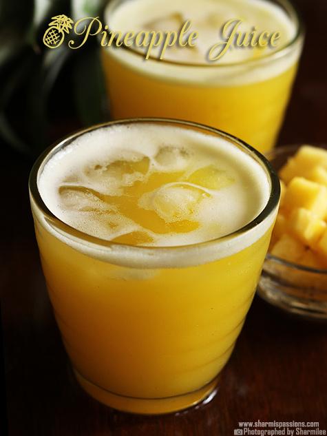 how to make pineapple juice