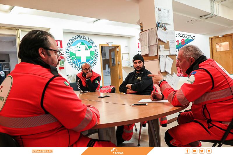 Centro Italia: l'assistenza di Anpas Abruzzo