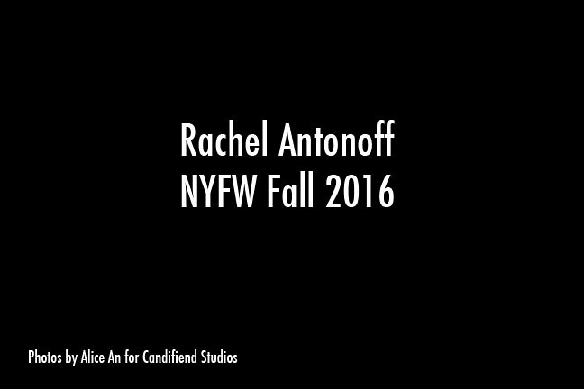 NYFW FW 2016 | Rachel Antonoff