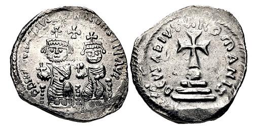 Hexagram silver coin