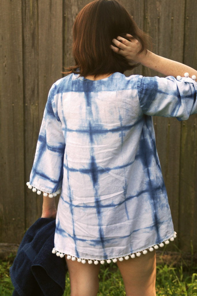 Indigo Dyed Beach Cover-up