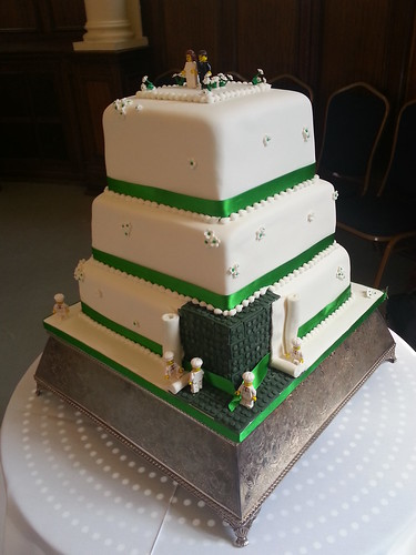 Lego themed wedding cake - Side View | by platypus1974