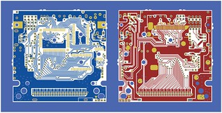 Nintendo Gameboy DMGCPU board traces both sides, all separations | by Euphy