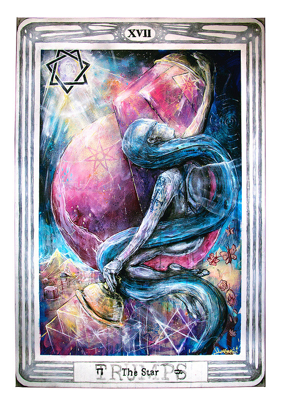 Painting Thoth Tarot The Star Card