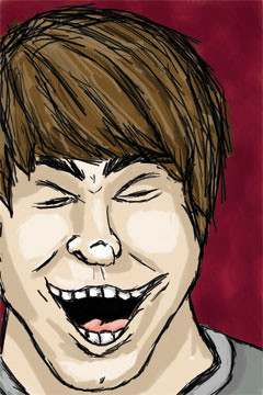 laughing face drawing - photo #18