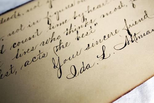 cursive | My friend Erica has come into the possession of ...  cursive | My fr...