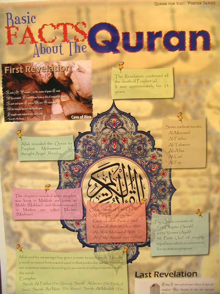 A Poster about the Quran (best viewed large) | Muslim Fest ...