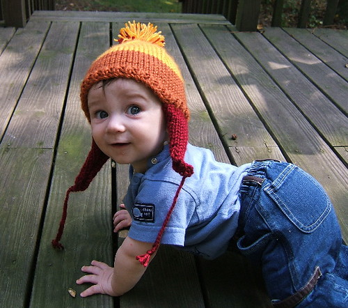 Baby Jayne | The boy in his cunning hat. Knit without much o… | Flickr
