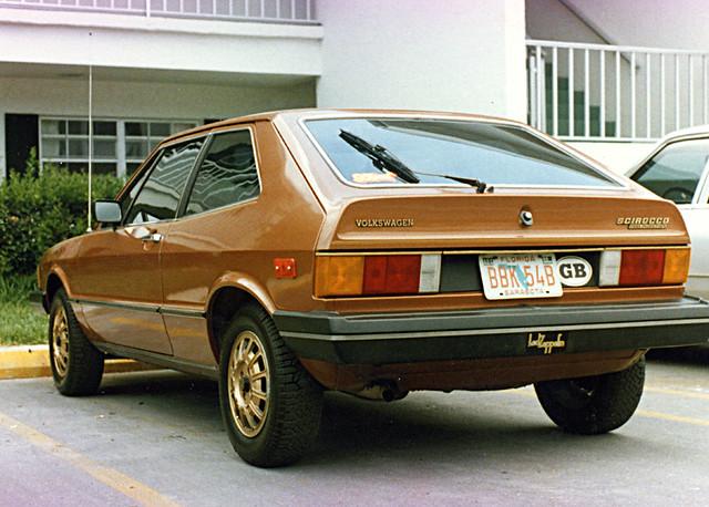 1980 VW Scirocco Rear