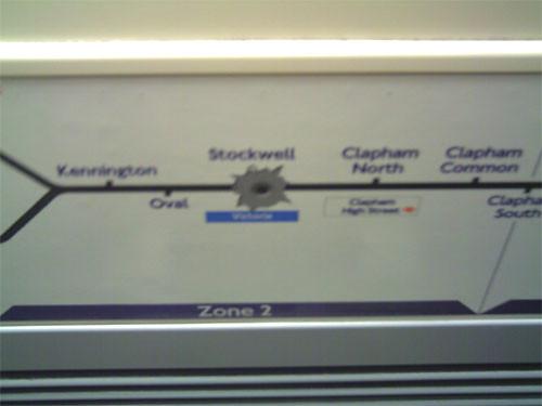 Graffiti Of Stockwell London Underground Station On Tube M