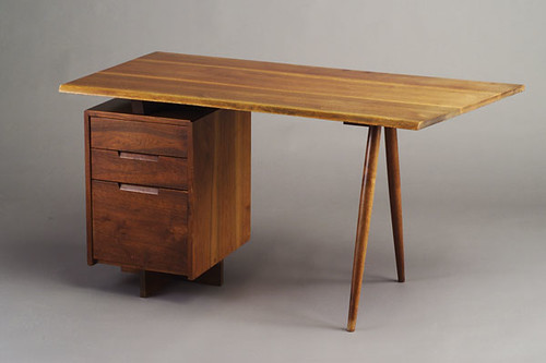 GEORGE NAKASHIMA walnut single pedestal desk  Expired item,…  Flickr