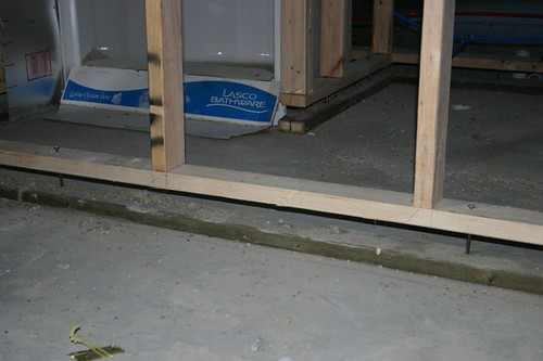 Floating Wall A Floating Wall In The Basement Bathroom