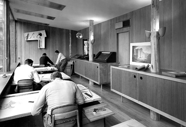 Armstrong Architectural Office -- drafting room | This ...