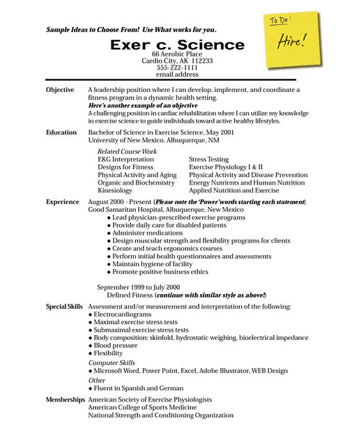 Sample Resume With Publication List