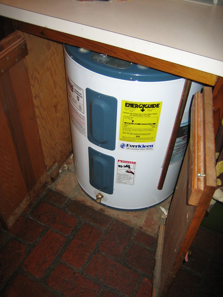 Pot 20 | Hot water heater (under kitchen cabinet)- looks to … | Flickr