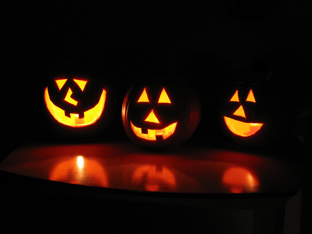 pumpkin carving with a drill patterns