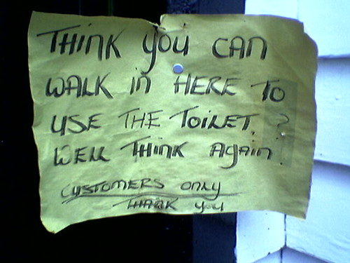 Grindleford Sign about using the toilet | by Benjamin's Photos