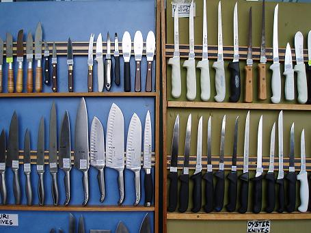 Knives at rosies of pyrmont sydney fish market charlie for Charlie s fish market