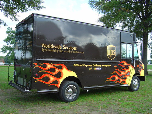 UPS Truck with Flames @ Marine Corps Marathon Runner's Exp ...