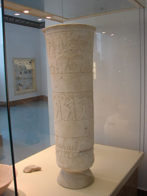 Warka Vase From The Eanna Precinct In Urukwarka Sumeria Flickr