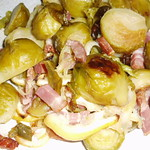 Gerösteter Rosenkohl mit Zitronen und Speck