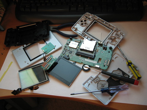 Broken DS Disassembly - many pieces | by gfixler