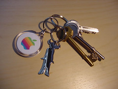 Apple Logo Keyring | by purplelime