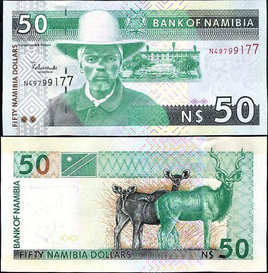 50 dolárov Namíbia 2003 Pick 8