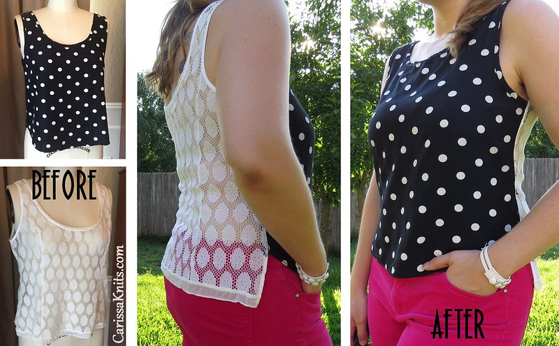 Black & White & Lace Tank - After