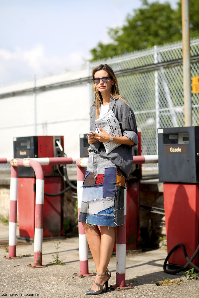 Clara Racz at Paris Fashion Week Menswear