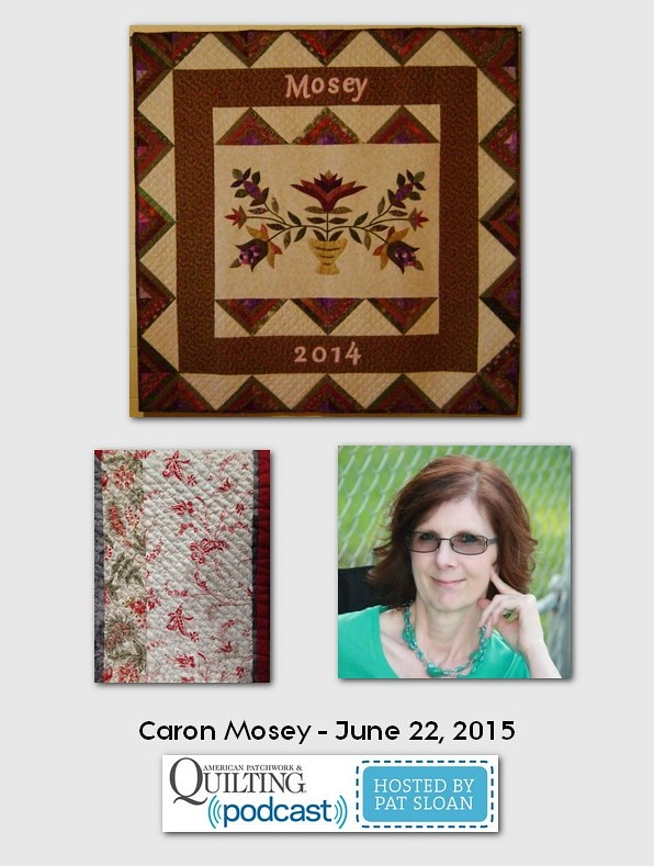 American Patchwork and Quilting Pocast guest Caron Mosey June 2015