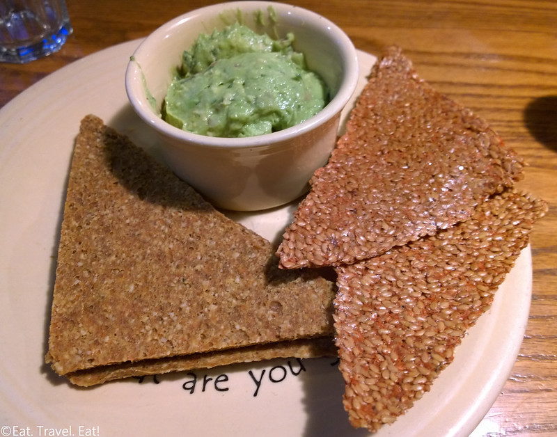 Cafe Gratitude- Los Angeles (Larchmont), CA: Connected- Guacamole with handmade crackers
